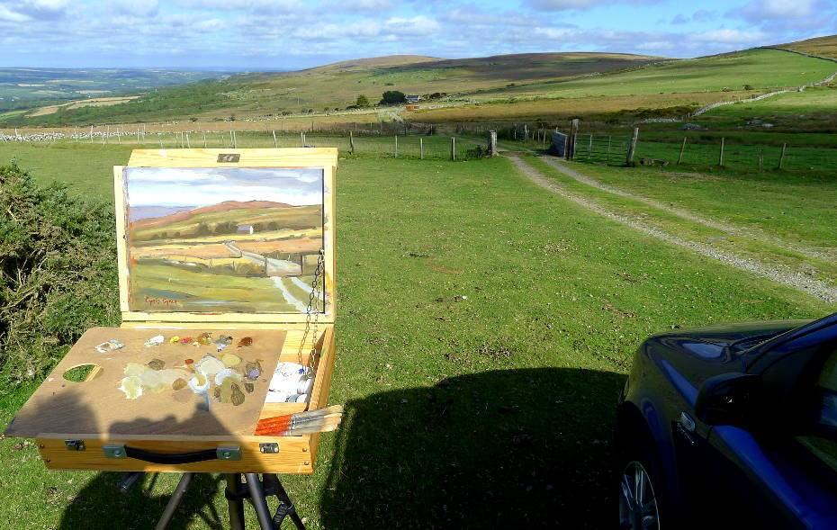 Plein air outdoor painting