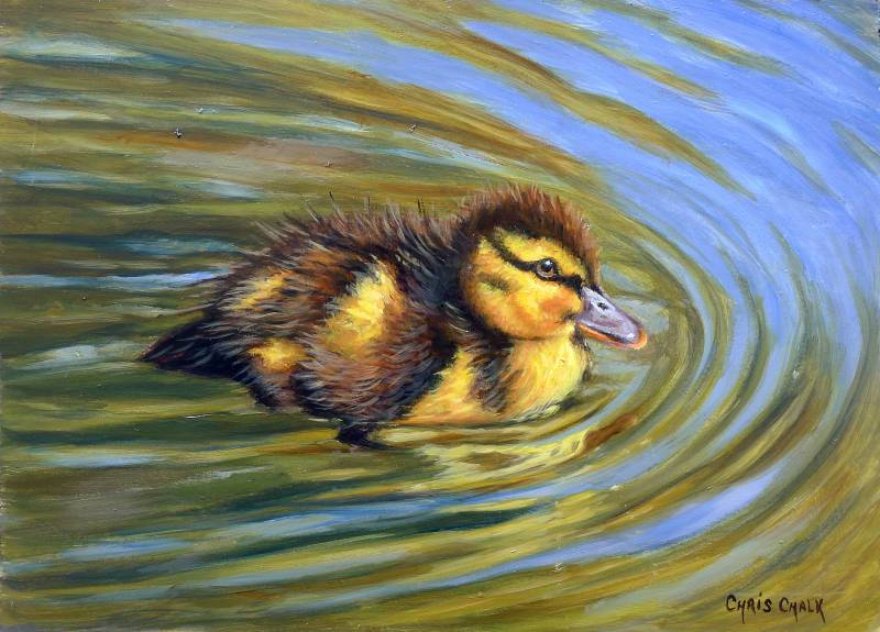 Duckling painting