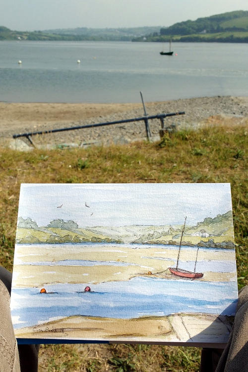 watercolour painting in Wales