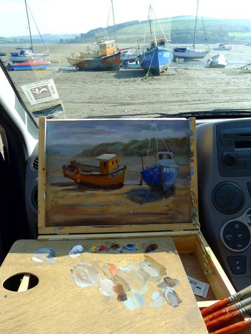 Painting from your car