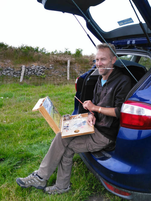 Chris plein air painting