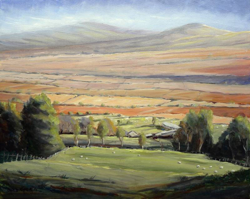 Painting of the Foel Drygarn near Crymych up in the Preseli