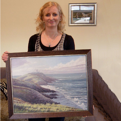 Strumble lighthouse painting