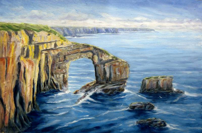 Painting of the Green bridge of Wales