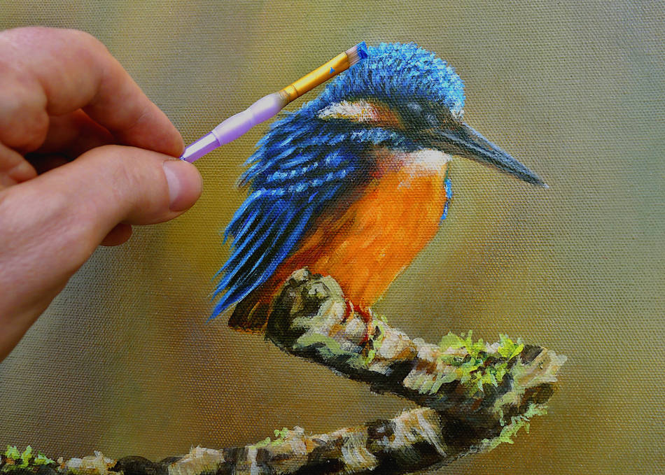 Kingfisher painting