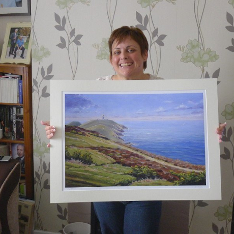 Client with their print of 'Summer at Strumble'