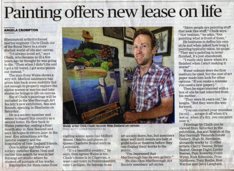 Marlborough Express news Paper Article