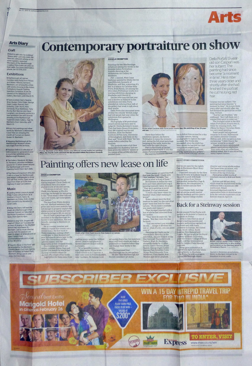 Marlborough Newspaper Interview