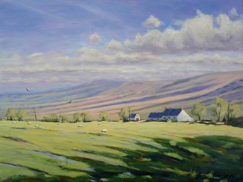 Preseli Mountain Farm Painting