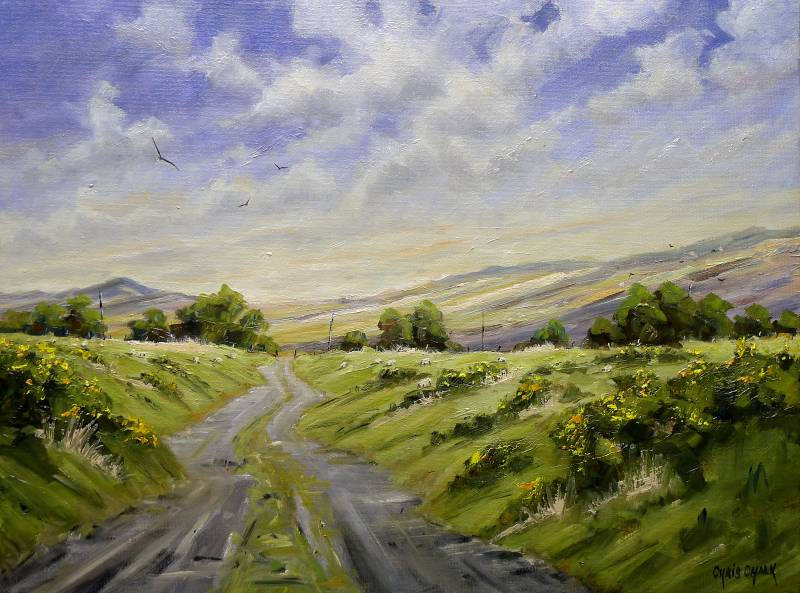 Painting of the Mountain View up in the Preseli