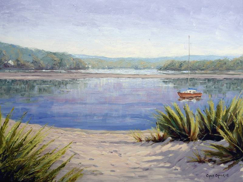 Painting of Newport, Nevern Estuary, Pembrokeshire