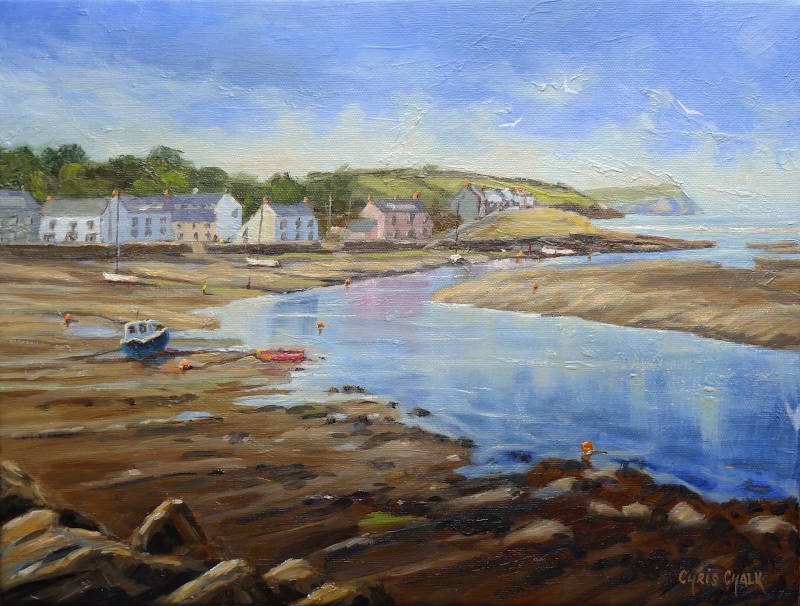 Painting of Newport in West Wales
