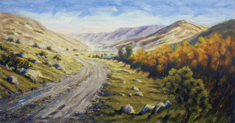 Waihopai Valley New Zealand painting