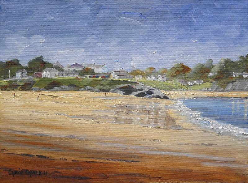 Aberporth beach painting