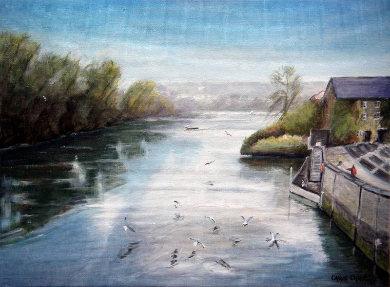 Prince Charles quay cardigan painting
