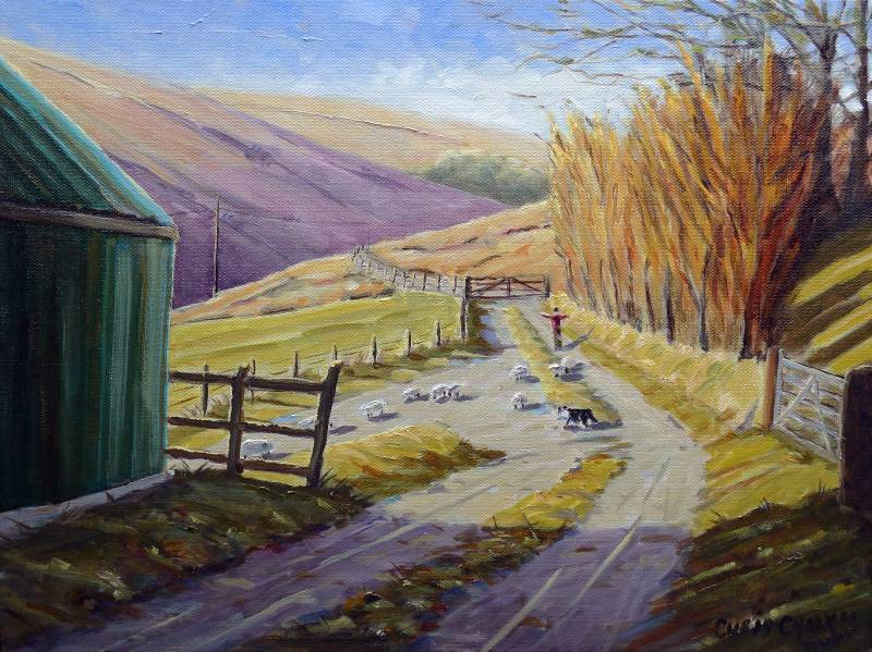 Doithie Valley painting