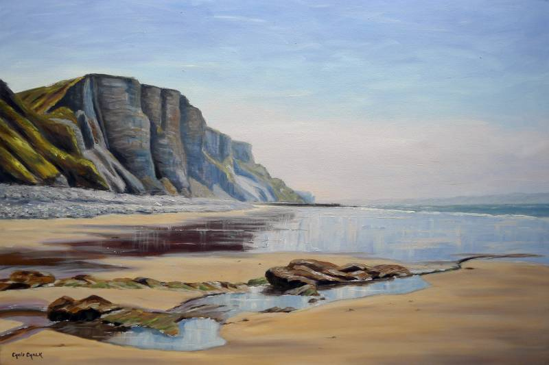 Dunraven bay painting