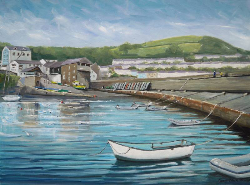 New Quay Wales painting