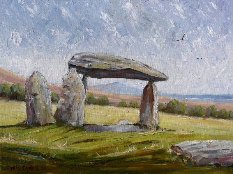 Pentre Ifan painting
