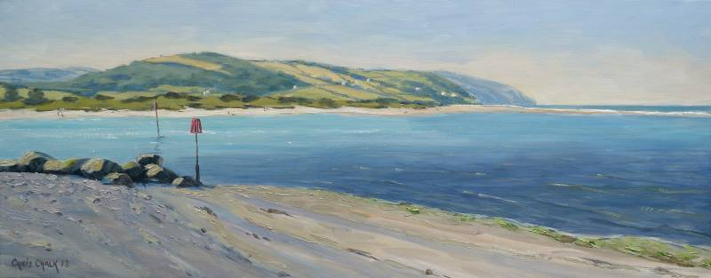 Poppit Sands beach painting