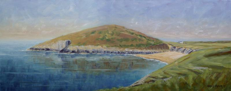 Mwnt harbour painting