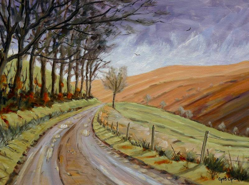 Cambrian mountains painting