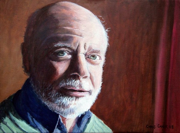 oil painting of a old man with a beard