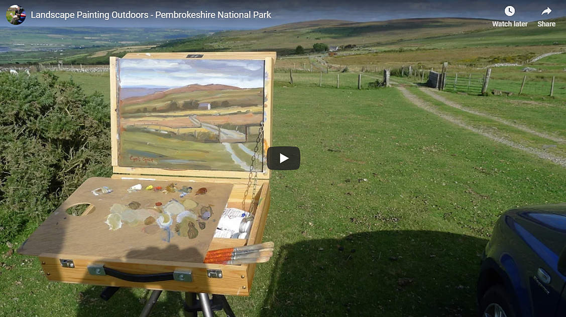 painting outdoors plein air