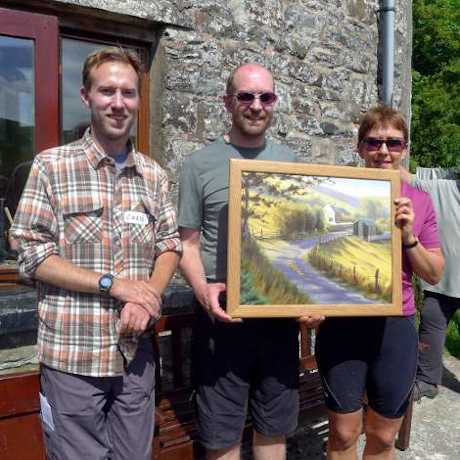 painting presentation Elenydd Wilderness Hostels