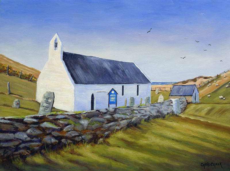 Mwnt Church Painting