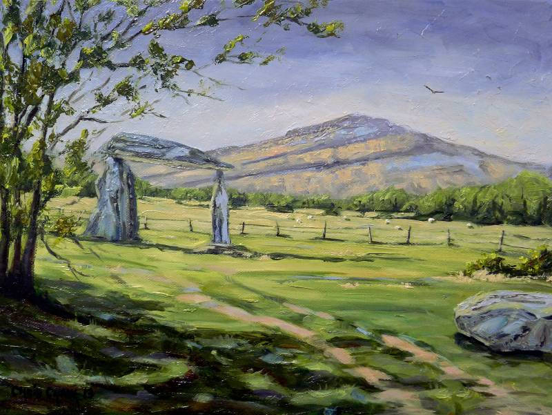 Painting of Pentre Ifan in Pembrokeshire