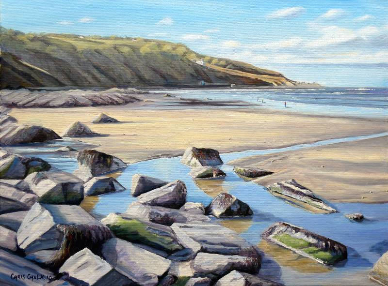 Painting of Poppit Beach in West Wales