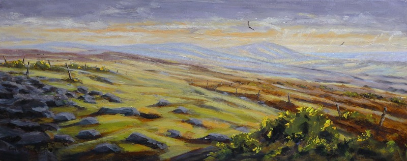 Painting of the Preseli Mountains in Pembrokeshire