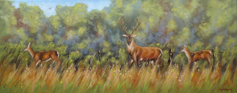 Red Deer painting