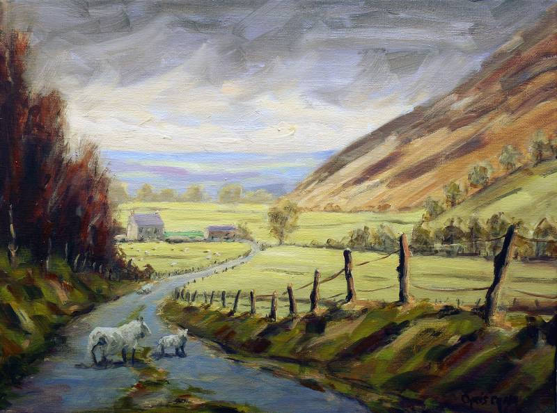 Painting of the Mountain Road near Tregaron