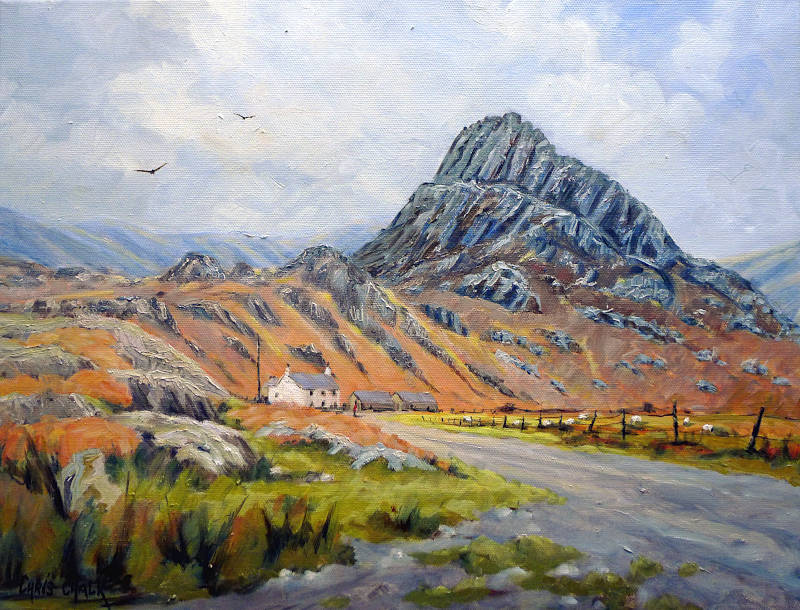 Tryfan mountain painting