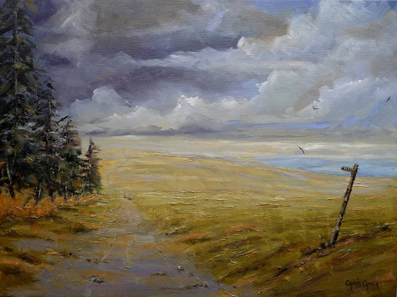 Welsh oil painting, The path less travelled