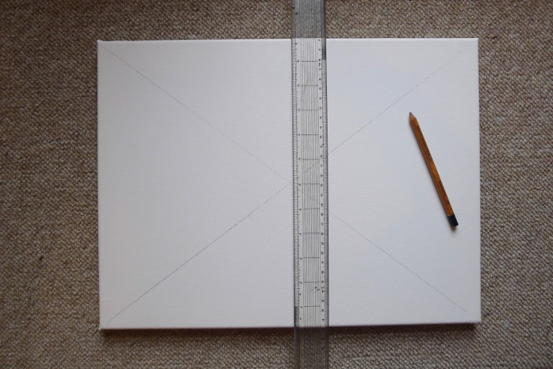 drawing lines on canvas painting