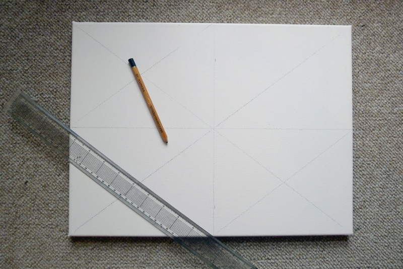 how to grid a canvas for a painting