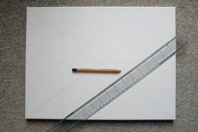 how to grid up a canvas to paint on