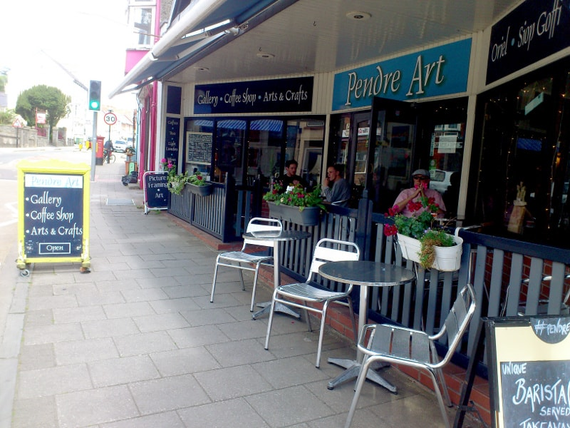 Pendre art gallery and cafe in Cardigan
