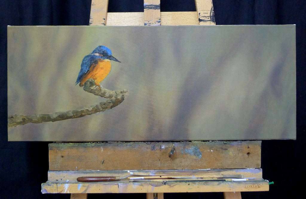kingfisher painting panoramic