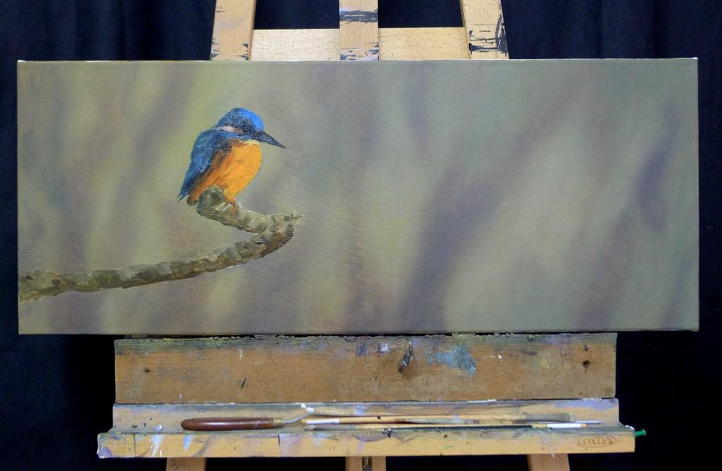 kingfisher painting panoramic