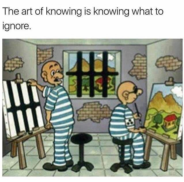 The art of knowing what to ignore