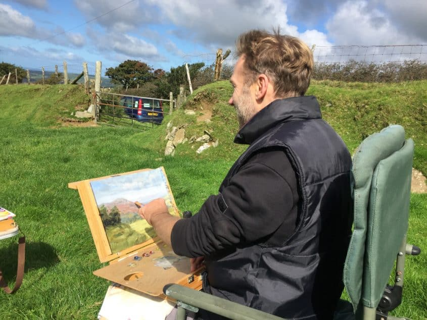 chris chalk painting wales