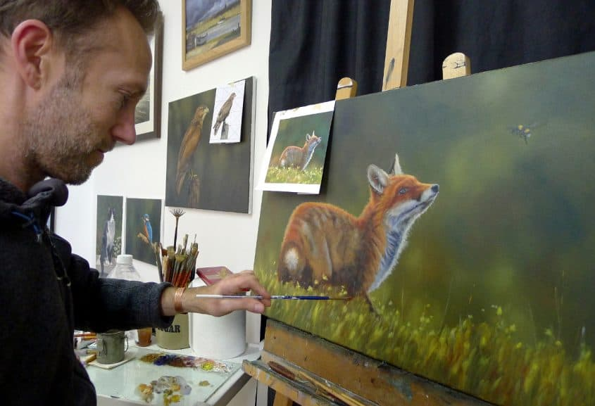 fox painting work in progress 7